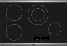 "30"" Electric Cooktop 800 Series - Black with Stainless Steel Frame"