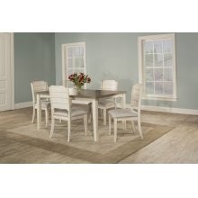 Clarion 5-piece Rectangle Dining Set With Side Chairs - Sea White