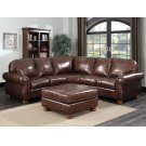 Sectional in Dynamic Mocha Product Image