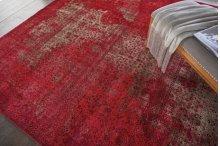 Karma Krm01 Red Round Rug 5'3'' X 5'3''