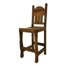 "24"" Barstool W/Wood Seat Medio Finish"