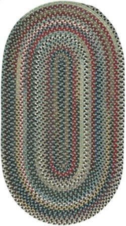Yorktowne Green Braided Rugs (Custom)