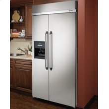 "42"" Built-In Refrigerator, in Stainless Steel with Ice and Water Dispenser"
