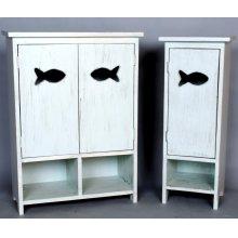"""#480 1 Door Fish Cabinet 12""""wx11""""dx33""""h"""