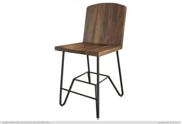 "24"" Barstool Solid Prota w/ Iron Base"