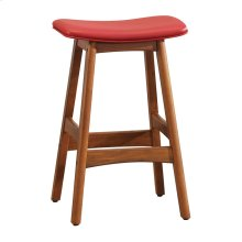 Counter Height Stool, Matt Red