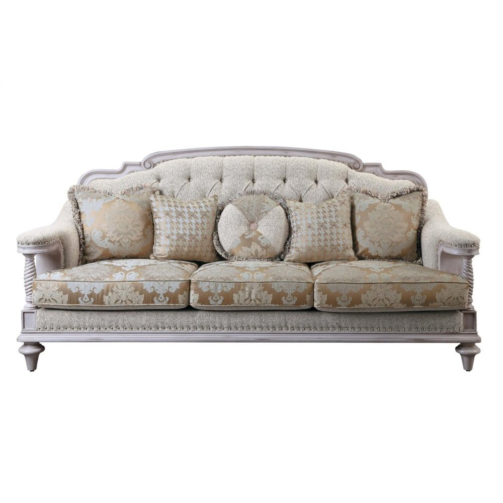 Sofa with 5 Pillows