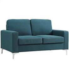 Allure Upholstered Sofa in Blue