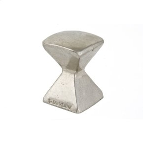 Satin Nickel Forged 2 Med Square Knob 7/8 Inch