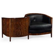 Knightsbridge Loveseat with Black Leather
