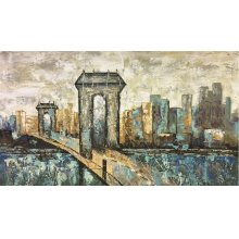 Gateway to the City 40x72 Hand Painted