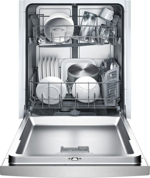 """24"""" DLX Recessed Handle Dishwasher Ascenta- Stainless steel SHE3ARL5UC"""