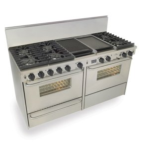 "Five Star60"" Dual Fuel, Convect, Self Clean, Sealed Burners, Stainless Steel"