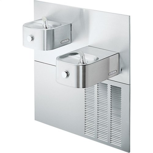 Elkay Soft Sides Fountain Bi-Level ADA Non-Filtered, 8 GPH Stainless