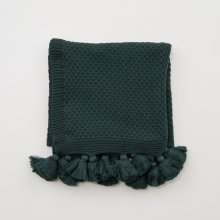 Carlisle Tassel Throw - Emerald