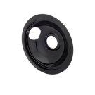 Smart Choice 6'' Black Porcelain Drip Pan Product Image