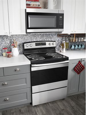 30-inch Electric Range with Bake Assist Temps - white