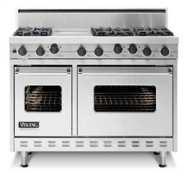 "48"" Sealed Burner Range - VGIC (48"" wide range with four burners, 12"" wide griddle/simmer plate and 12"" wide char-grill, double ovens)"