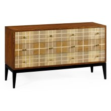 Pale Tartan Six-Drawer Dresser
