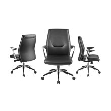 The Arena Arm Black Office Chair