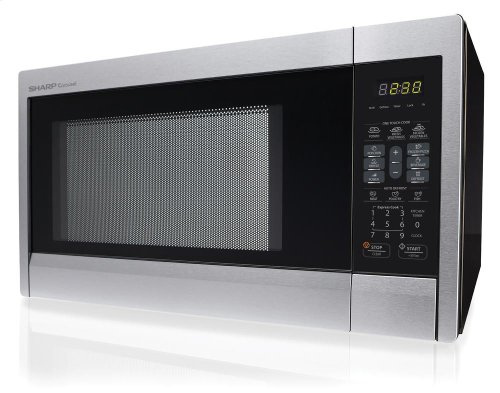 ***DISPLAY MODEL CLOSEOUT*** 1.1 cu. ft. 1000W Sharp Stainless Steel Carousel Countertop Microwave Oven (R-331ZS)