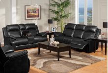 Dual Recliner Glider Console Loveseat