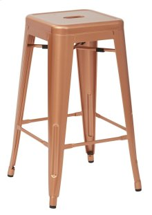 "Bristow 26"" Antique Metal Barstools, Copper 2 -pack"