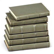 Books, Set Of 6, Antique Grey