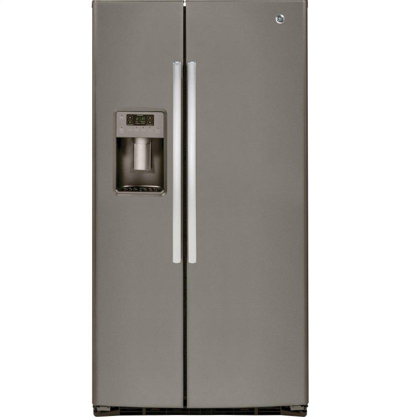 GE® ENERGY STAR® 25 3 Cu  Ft  Side-By-Side Refrigerator
