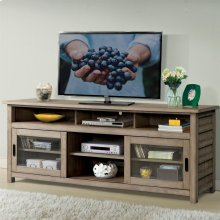 Perspectives - 74-inch TV Console - Sun-drenched Acacia Finish