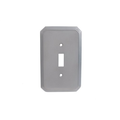 Single Toggle Square Deco Switch Plate - Nickel Stainless