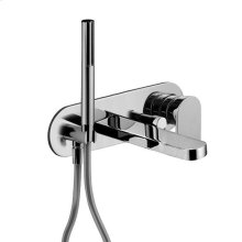 In-wall non-thermostatic single-control tub mixer