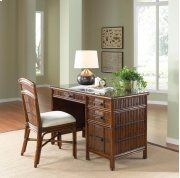 Tahiti 2 PC Rattan & Bamboo Desk & Chair set Product Image