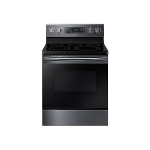 5.9 cu. ft. Freestanding Electric Range with Warming Center - FINGERPRINT RESISTANT BLACK STAINLESS STEEL