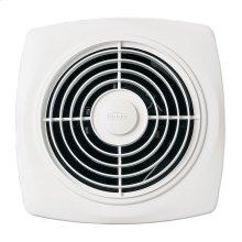 "10"" 270 CFM Through Wall Ventilation Fan, White Square Plastic Grille"