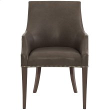Keeley Leather Dining Chair in Cocoa