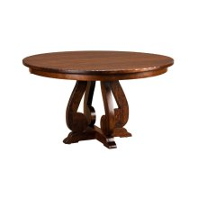 "Burwick Pedestal Table w/1-12"" leaf (aproned)"