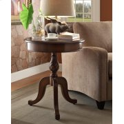 Round Cherry Top End Table Product Image