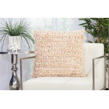 "Shag Dl658 Beige 20"" X 20"" Throw Pillow"