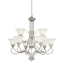 Stafford 9 Light Chandelier Antique Pewter
