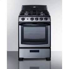 "24"" Wide Gas Range In Stainless Steel With Oven Window, Sealed Burners, and Continuous Cast Iron Grates; Replaces Pro246ss"