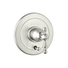Polished Nickel Arcana Volume Control Pressure Balance Trim With Diverter with Arcana Classic Metal Lever