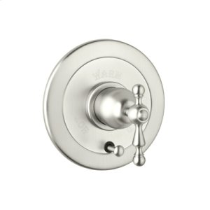 Polished Nickel Arcana Volume Control Pressure Balance Trim With Diverter with Arcana Ornate Metal Lever