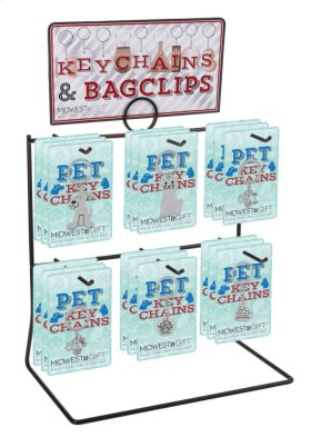 20 pc. assortment. Pet Keychain & Counter Display.