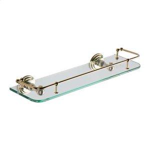 """Polished Brass 18"""" Gallery Rail Shelf"""