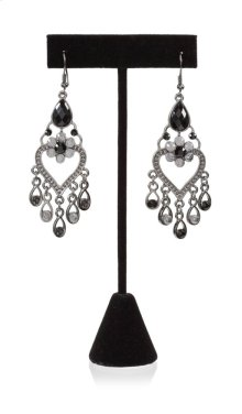 BTQ Black Chandelier Earrings
