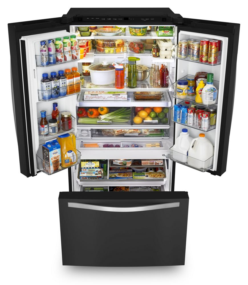 Captivating 36 Inch Wide French Door Refrigerator With Infinity Slide Shelf   32 Cu. Ft