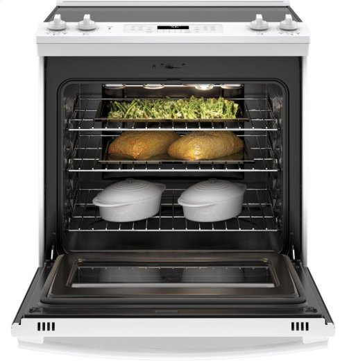 """GE® 30"""" Slide-In Electric Convection Range **OPEN BOX** West Location"""