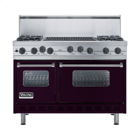 "Plum 48"" Sealed Burner Self-Cleaning Range - VGSC (48"" wide, four burners & 24"" wide char-grill)"