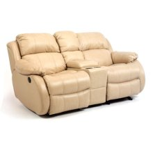 Brandon Leather Gliding Reclining Love Seat